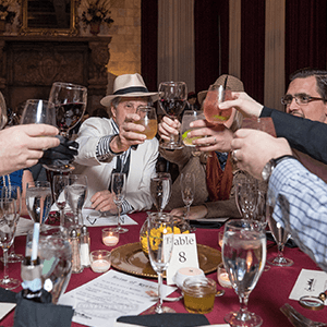 Charlotte Murder Mystery guests raise glasses